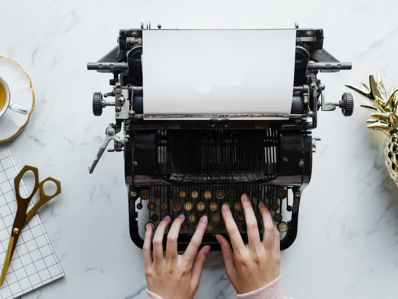 Maquina de escribir. Content Manager